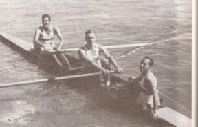Paulo Diebold, Pércio Zancani e Arlindo Cabral no timão.